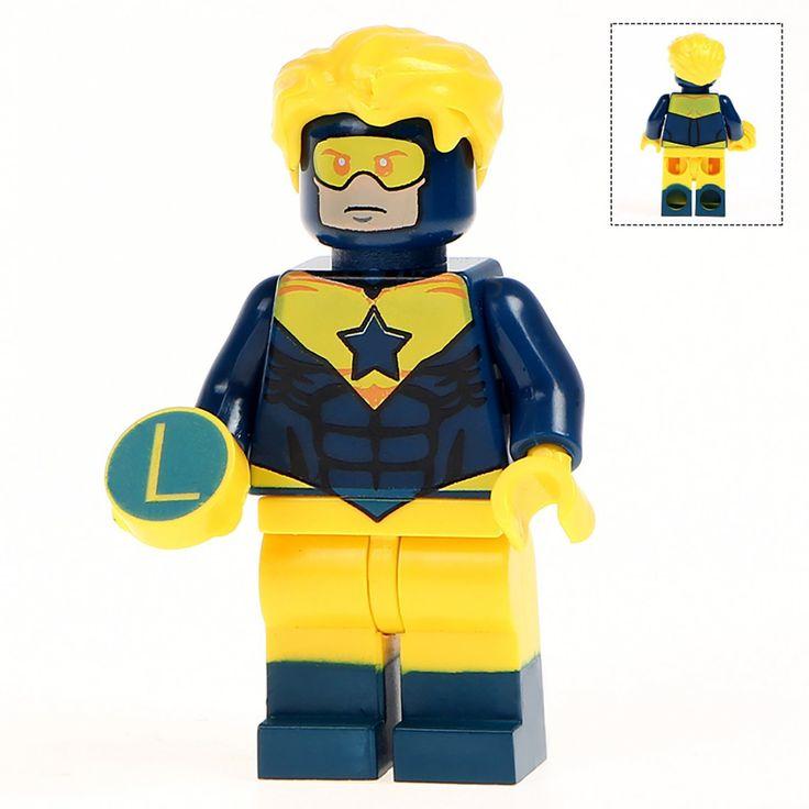 Minifigure Booster Gold DC Comics Super Heroes Compatible Lego Building Blocks Toys