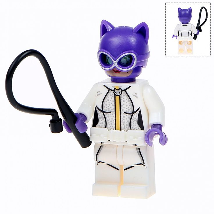 Minifigure White Catwoman DC Comics Super Heroes Compatible Lego Building Block Toys