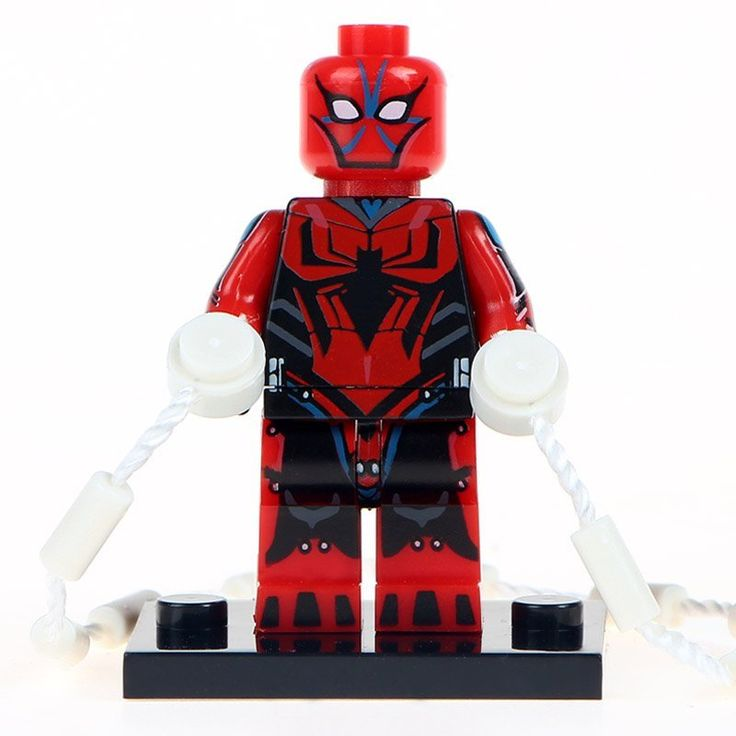Minifigure Red Spider-man Marvel Super Heroes Compatible Lego Building Block Toys