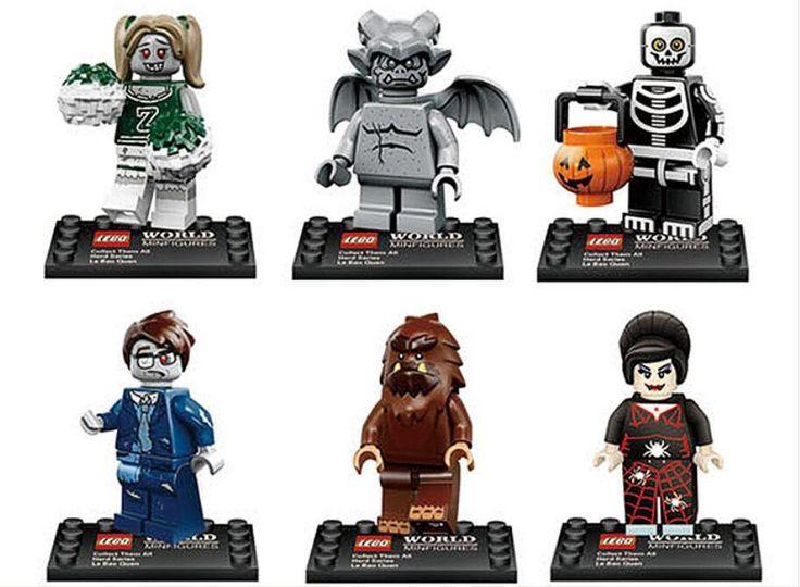 Werewolf Spider Lady Skeleton Guy minifigures Lego Minifigures series 10 Compatible Toy
