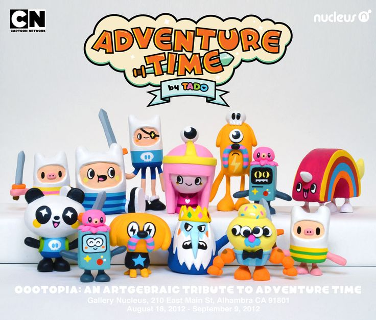 Adventure Time minifigures by Tado for Gallery Nucleus