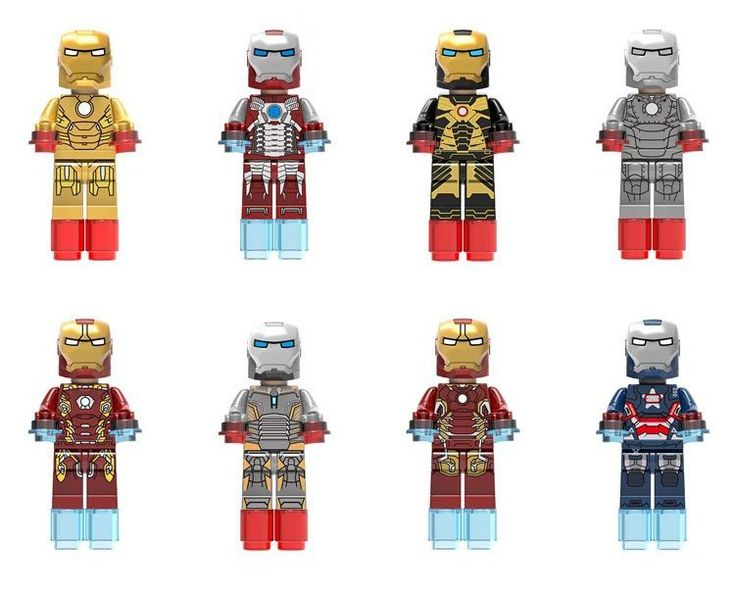 Iron Man Minifigures Iron Army Marvel Super Heroes Lego Compatible Toy