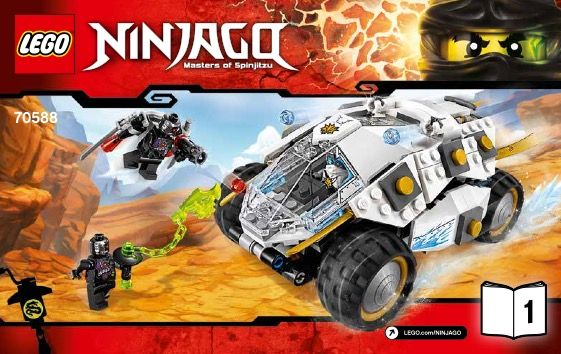 View LEGO instructions for Titanium Ninja Tumbler set number 70588 to help you b…