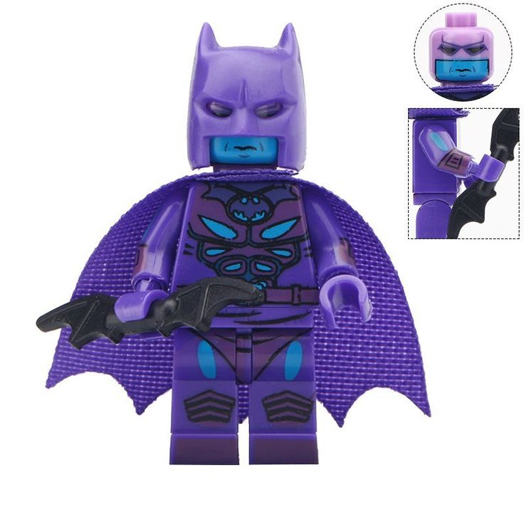 Minifigure Purple Batman DC Comics Super Heroes Compatible Lego Building Blocks Toys
