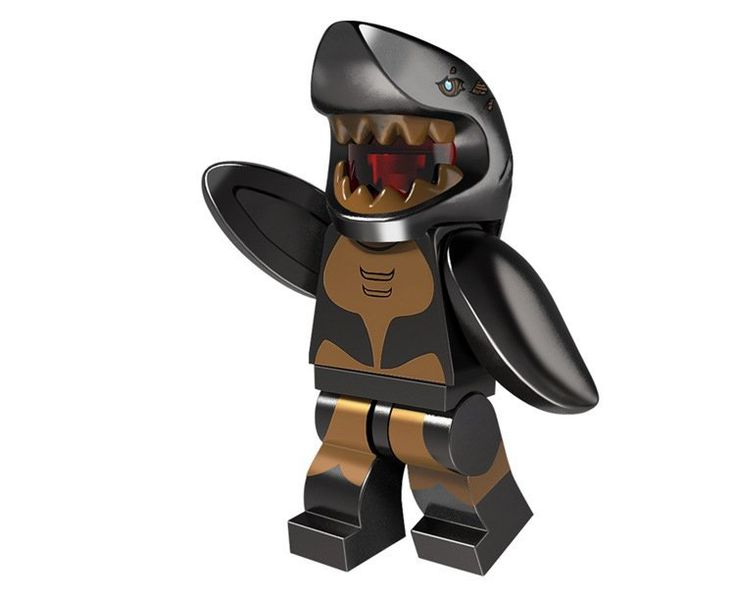 Shark Suit Guy minifigure Lego Minifigures Series 15 Compatible Toys