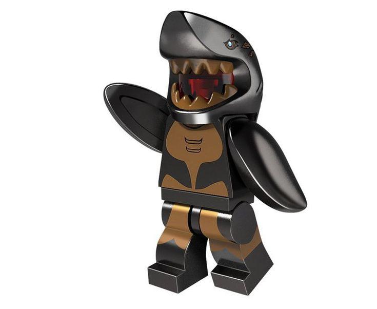 Shark Suit Guy minifigure Lego Minifigures Series 15 Compatible Toys