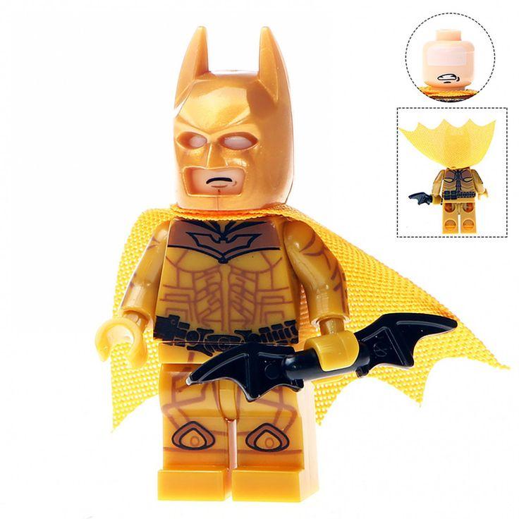 Minifigure Gold Batman Dark Knight DC Comics Super Heroes Compatible Lego Building Block Toys