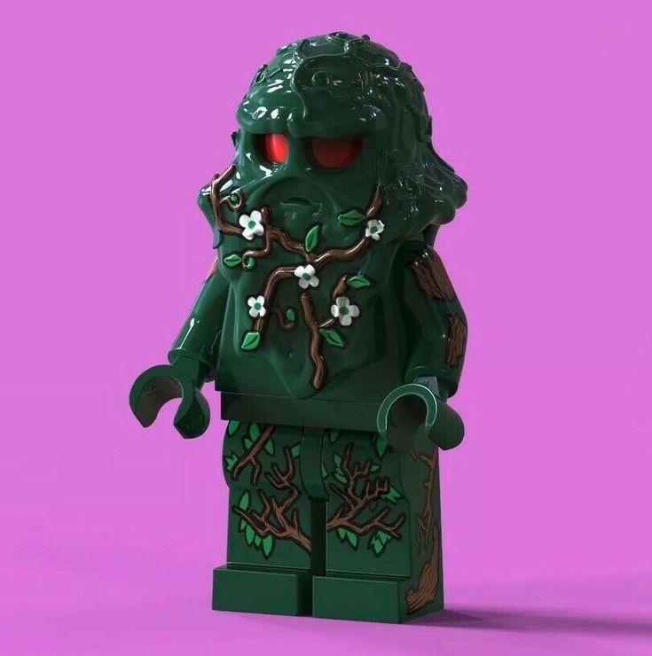 LEGO Custom PAD Printed DC Comics Swamp Thing Minifigure Minifig LIMITED EDITION…