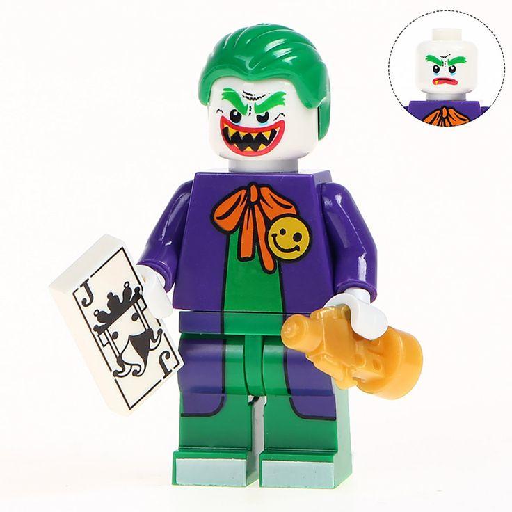 Minifigure Joker with Statuette of Oscar DC Comics Super Heroes Compatible Lego Building Bloc…
