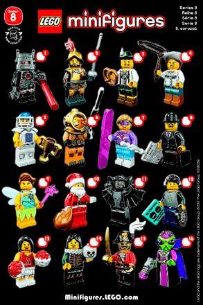 Resultado de imagem para lego minifigures series 8