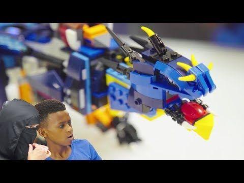 A LEGO BOOST NINJAGO DRAGON! Fun Challenges, Building, Programming Instructions …
