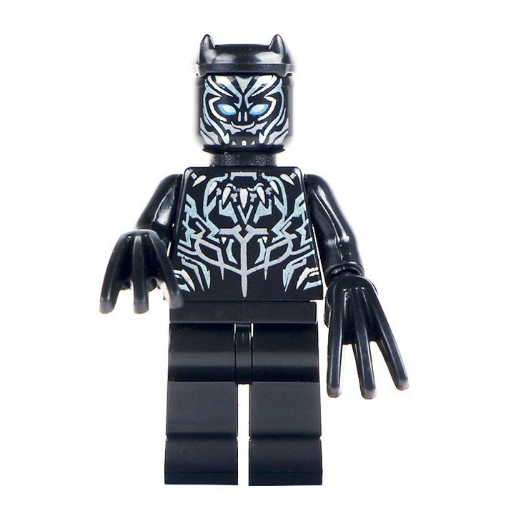 Minifigure Black Panther Marvel Super Heroes Compatible Lego Building Block Toys