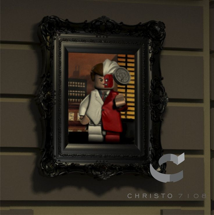 Christo Custom Fine Art Brick Painting – Two Face – LIMITED EDITION