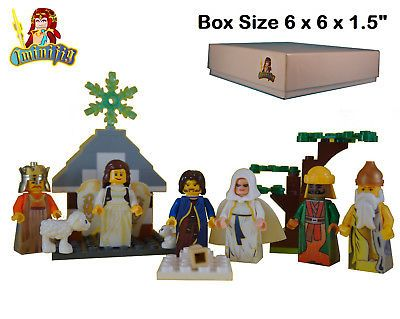Details about Custom Print LEGO minifigure Nativity Set Holly Family Angel Wisemen 50 parts