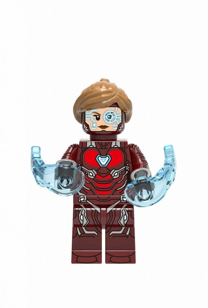 Super Heroes Pepper Minifigures Compatible Lego Avengers movie Iron Man set