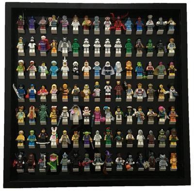 Black Edition Custom White Display Frame for Lego® Minifigures