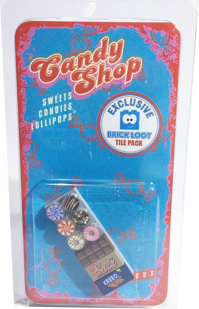 Brick Loot Exclusive Candy Shop Custom LEGO Tile Pack LIMITED EDITION