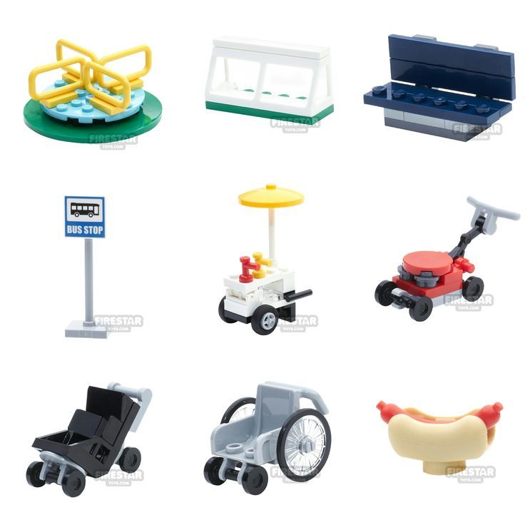 Baby Strollers Awesome new LEGO minifigure accessories including a baby stroller…