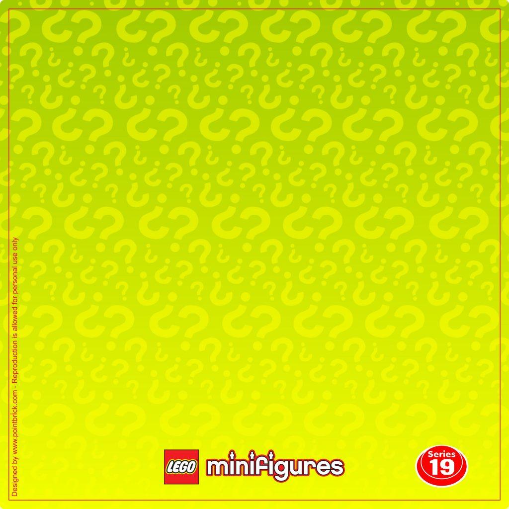 LEGO Minifigures Display: Sfondi Serie 19 Classic