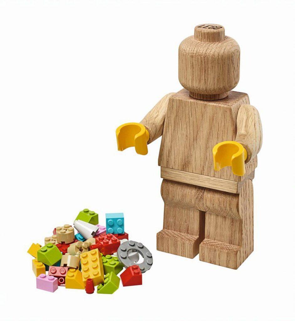 LEGO Originals Wooden Minifigure Is a 7″ Tall Minifig