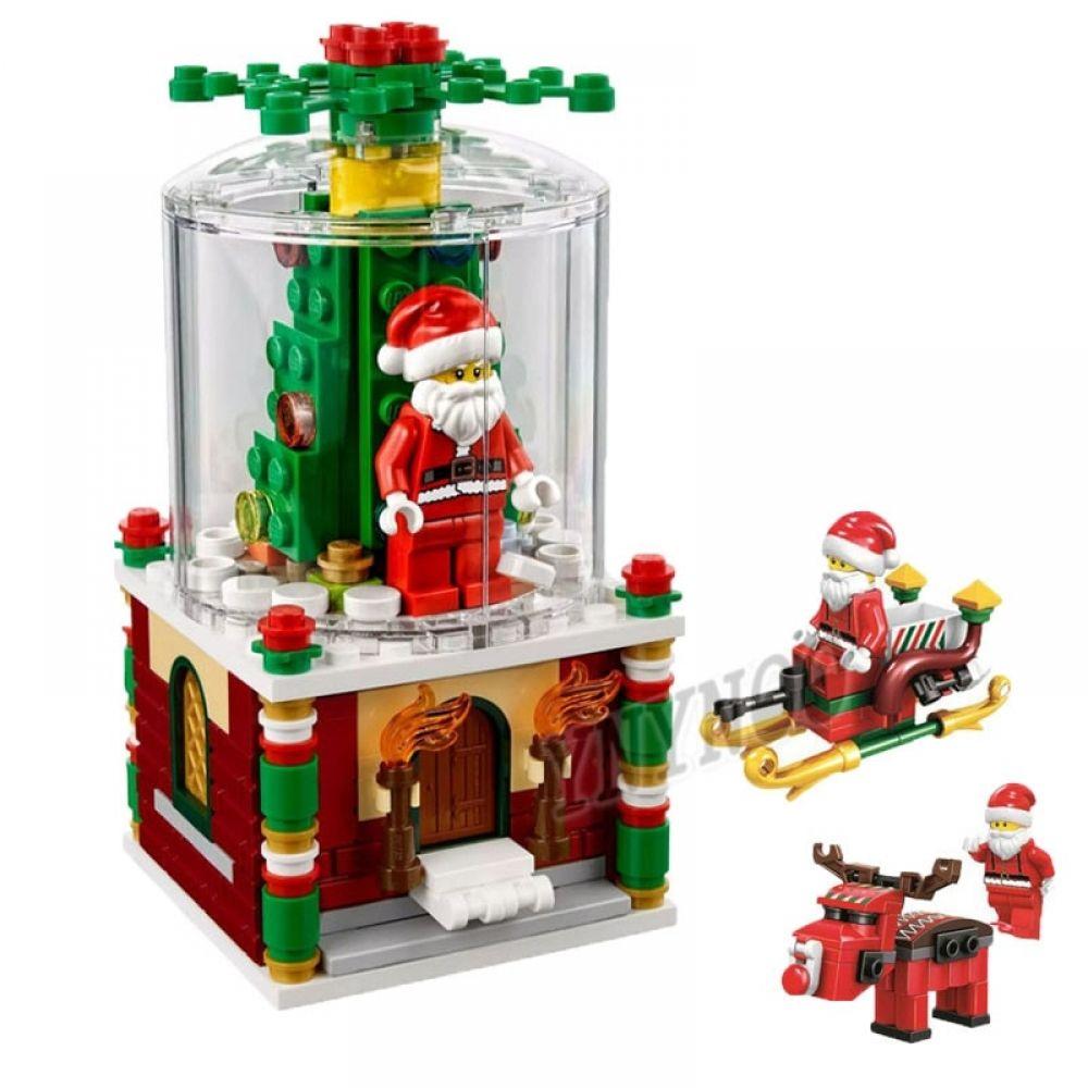 2019 New Christmas Creator Sets Santa Claus Snow House Scene With Legoinglys Model Building Blocks Bricks Toys Gift No Box