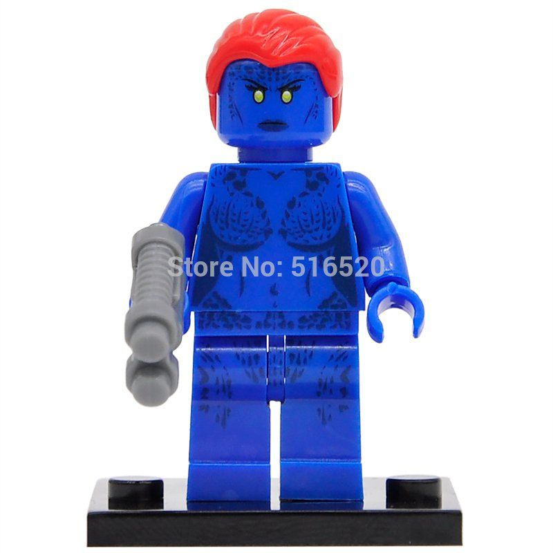 Raven Mystique Marvel X-Men Super heroes Minifigures Lego Compatible Toy