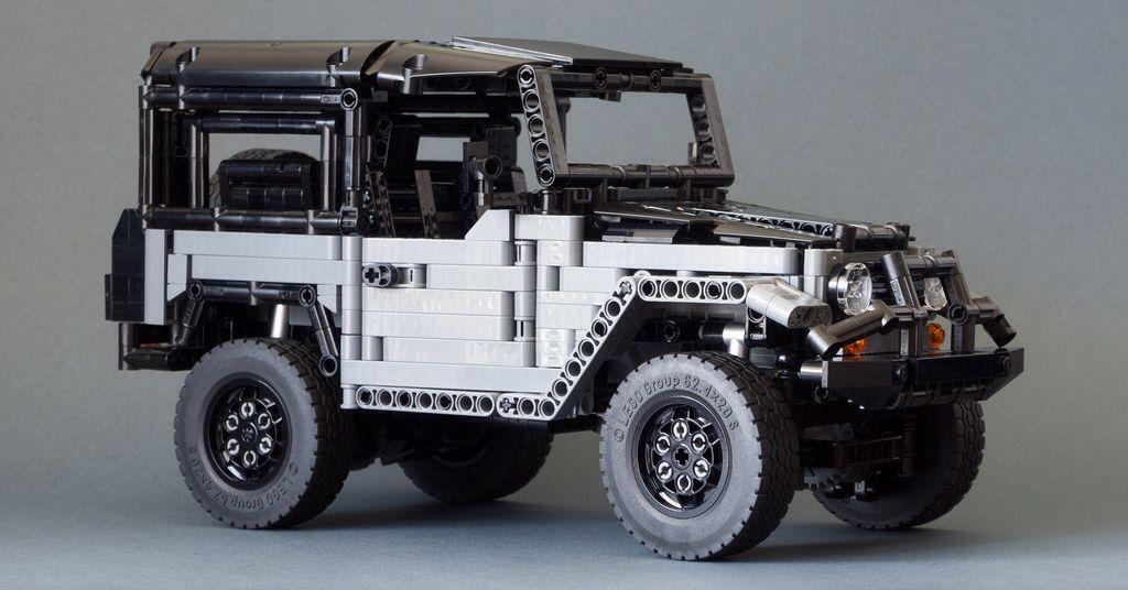 LEGO ICON FJ40 Baja Edition Style. Dark Bluish Grey (Original TLC FJ40 / ICON FJ40 BAJA 1000 Limited Edition designed by RM8)