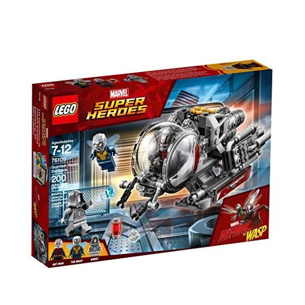 LEGO 76109 Marvel Super Heroes Quantum Realm Explorer Toy Vehicle, Ant-Man, Wasp and Ghost Figures, Mini Action Figures
