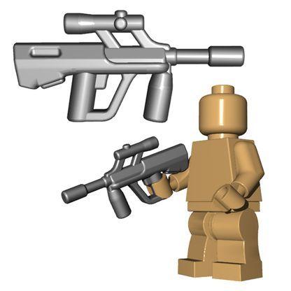 The Austrian bull pup features a sleak, unique design. This custom LEGO® gun wi…