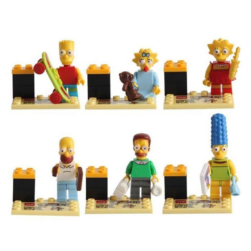 Simpsons Figure Homer Bart Lisa Itchy Scratchy Minifigure Lego Compatible Toy
