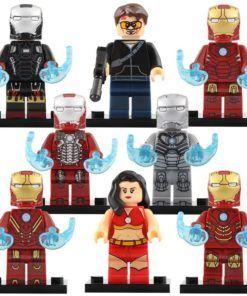 Custom SET Super Heroes Infinity War Scuba Iron Man Tony D Lego Fit Minifigure