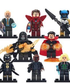 8pcs Minifigures Proxima Midnight Iron Man Doctor Strange Marvel Super Heroes Compatible Lego