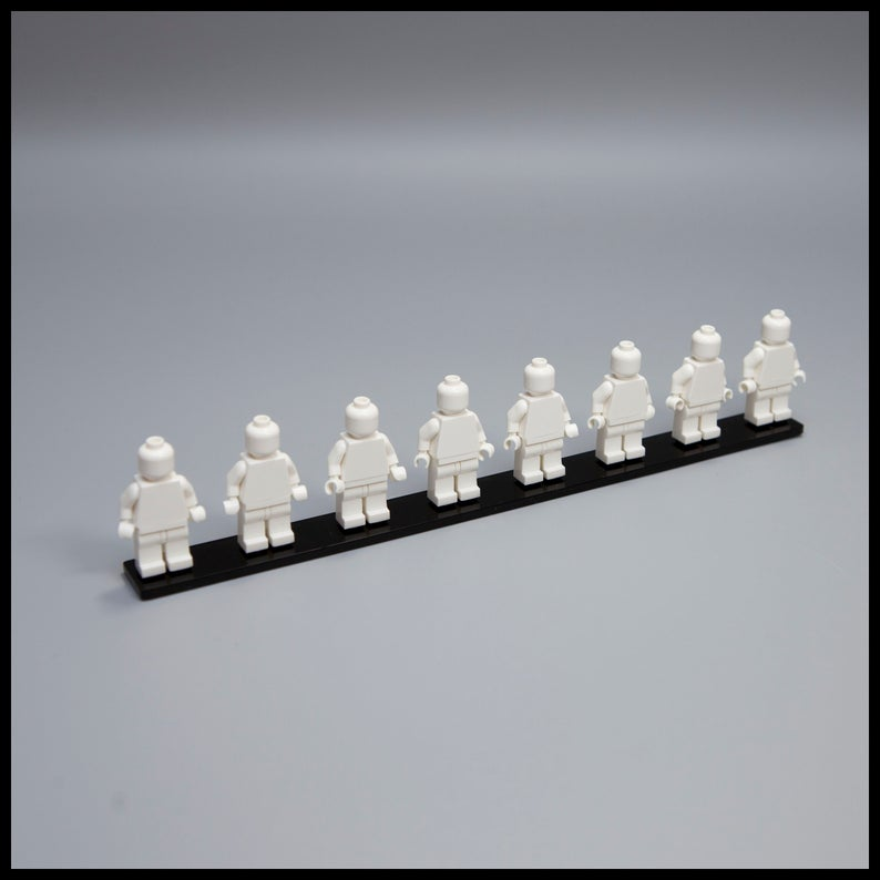 Minifigure Display stand for LEGO minifigures (Holds 8 Minifigs)