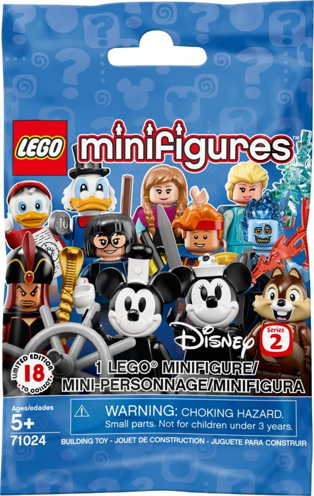 LEGO – Minifigures Disney Series 2 Building Toy 71024 – Blind Box – Multi