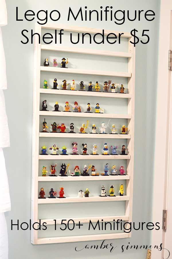 Lego Minifigure Display Shelf for Under Five Dollars