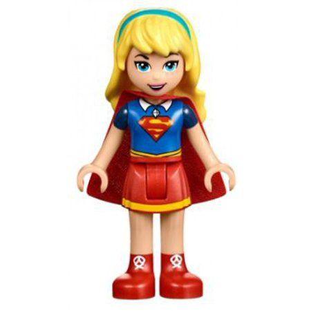 LEGO DC Super Hero Girls Supergirl Minifigure [Red Skirt] [No Packaging] – Walmart.com