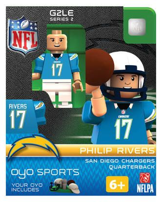 Los Angeles Chargers Philip Rivers Minifigure by Oyo Sports