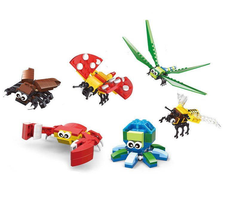 Animal series Butterfly Dragonfly Bee building block Toy Compatible Lego Minifigures Toy