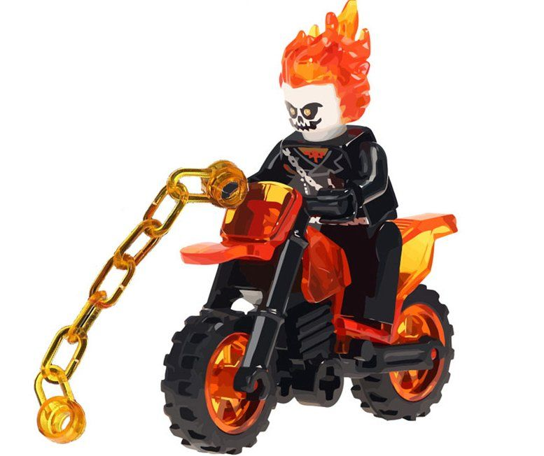 Ghost Rider minifigures movie sets Lego Compatible Toy