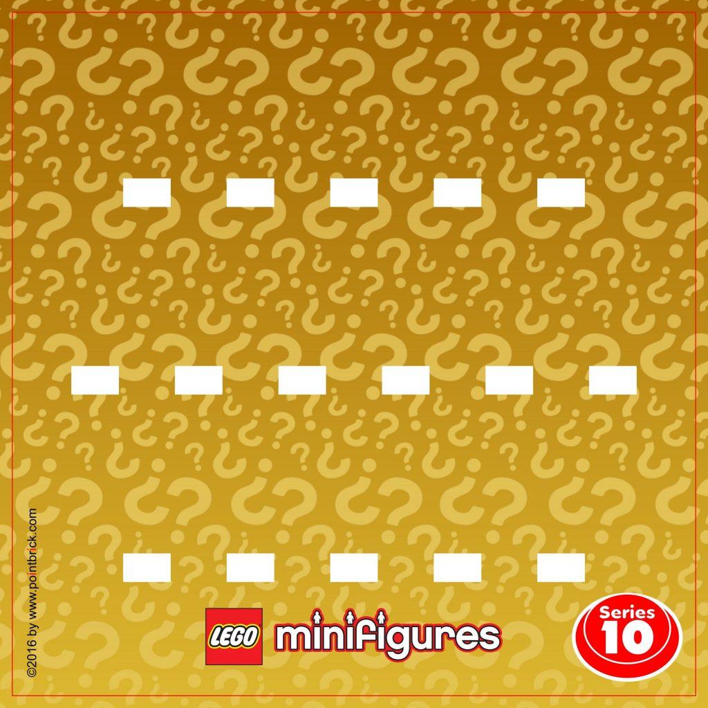 LEGO Minifigures Display Frame Sfondi Serie 9 e 10