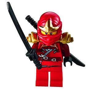 LEGO® Ninjago: Kai Minifig (Red Ninja) with Two Gold Swords – Limited Edition  | eBay