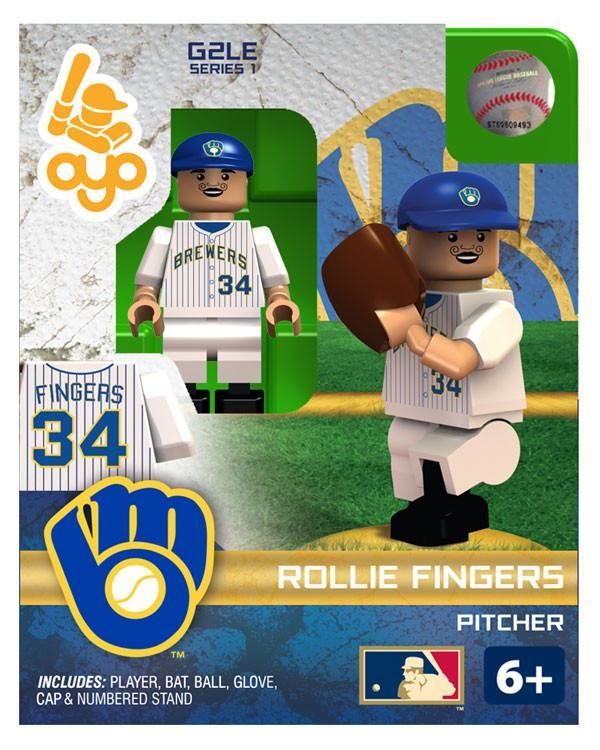 Milwaukee Brewers Rollie Fingers Hall of Fame Limited Edition OYO Minifigure