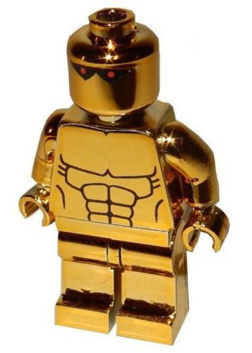 Details about **NEW** Custom Printed – AMAZO CHROME GOLD – DC Universe Comics Block Minifigure