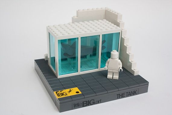 Build-Your-Own Art: LEGO Tank Model (Damien Hirst – Shark Tank), by Little Big Art