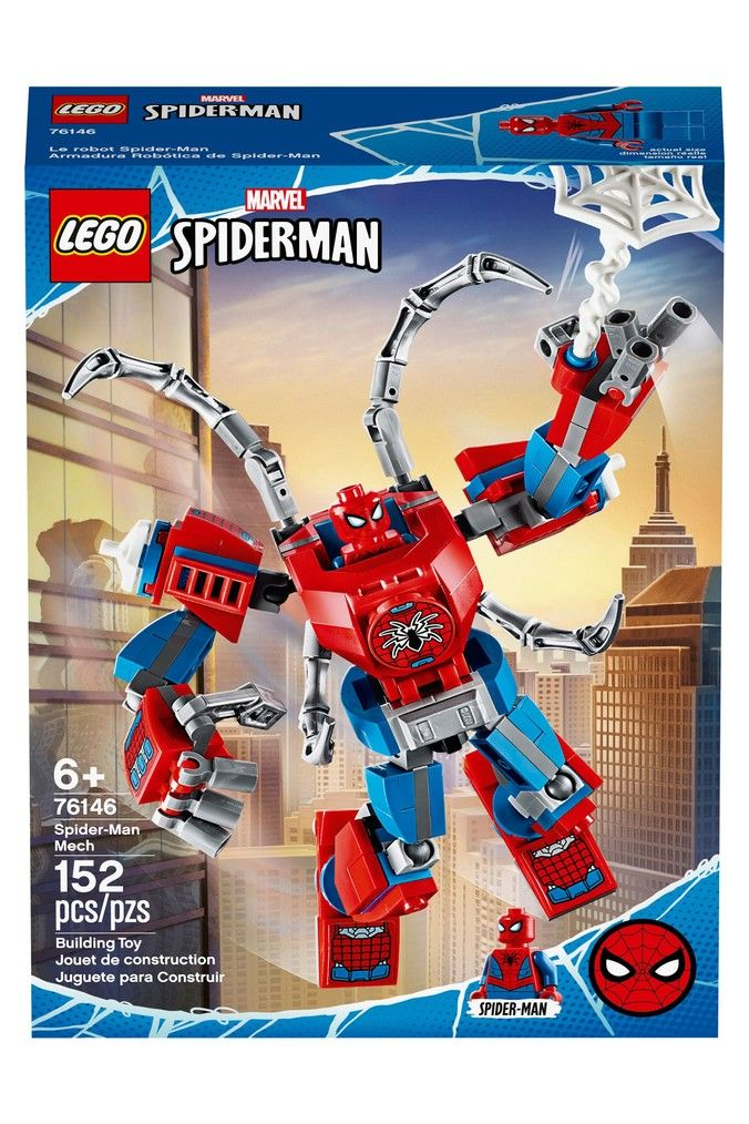 Buy LEGO® Super Heroes Marvel® Spider-Man™ Mech Building Set 76146 from the Next UK online shop