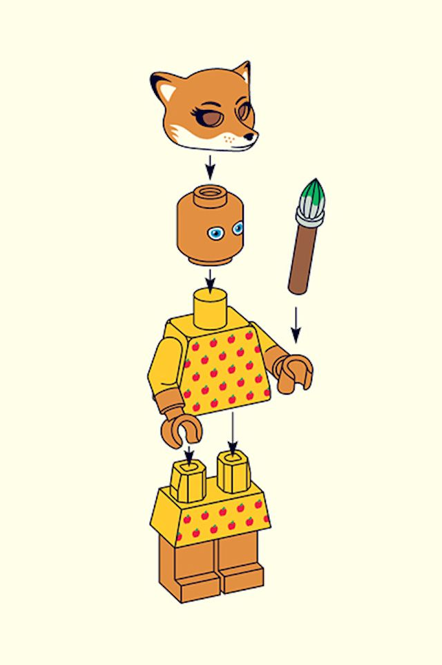 Juxtapoz Magazine – Wes Anderson Characters in LEGO by Matt Chase