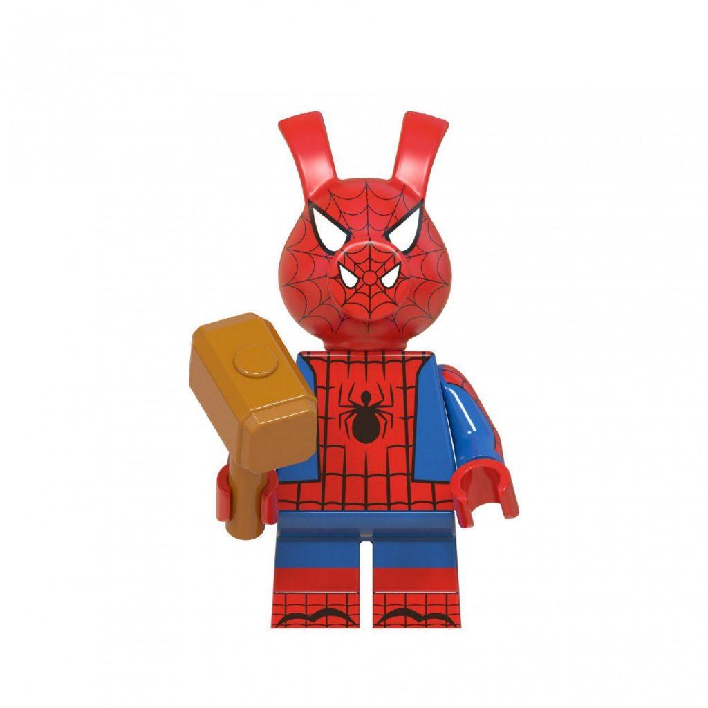 Spider-Ham Spider-Man Into the Spider-Verse Minifigures Lego Compatible Superhero Toy