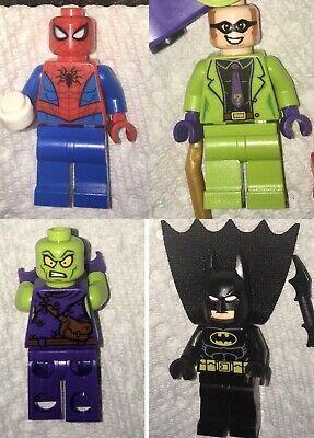 NEW! DC & MARVEL Super-hero LEGO Minifigures Spiderman Batman Goblin Joker  | eBay
