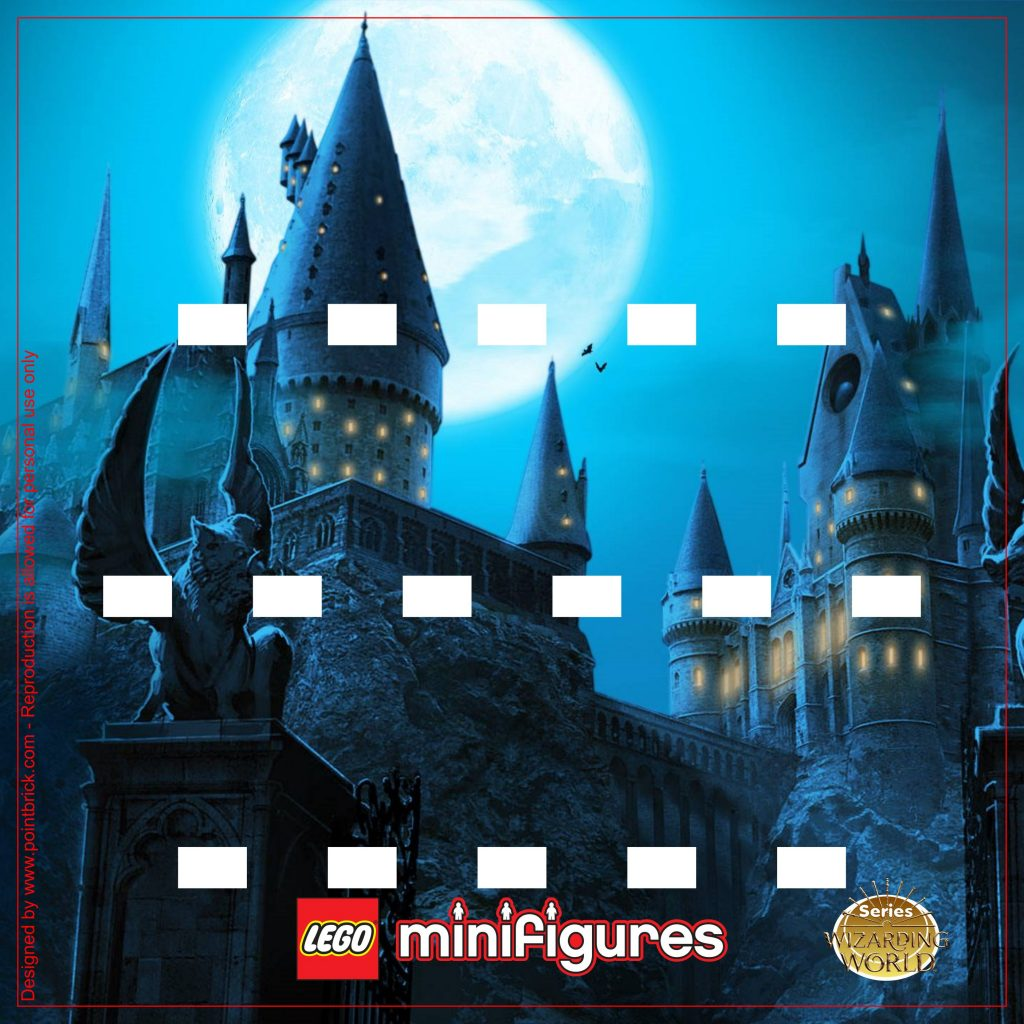 LEGO Minifigures Display Sfondi Harry Potter