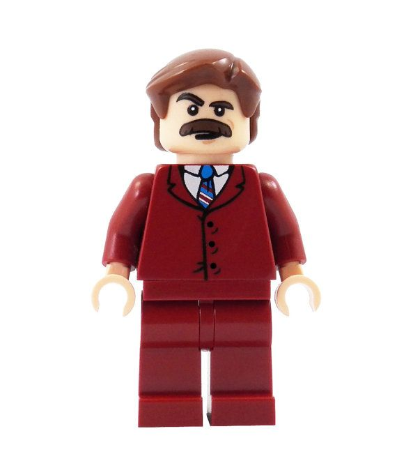 70's News Anchor (Anchorman) – miniBIGS Custom Figure made from Genuine LEGO Minifigure Elements